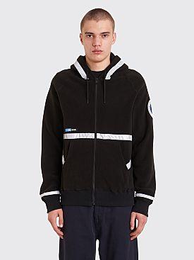 Undercover Astronautics Hooded Zip Fleece Sweater Black