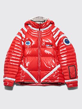 Undercover Astronautics Hooded Down Jacket Red