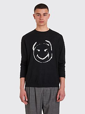 Undercover Knitted Smiley Sweater Black