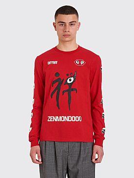 Undercover Zenmondooo LS T-shirt Red