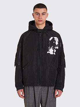 Undercover Hooded Pocket Jacket Black