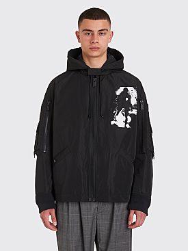 Undercover Hooded Pocket Jacket Black