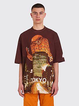 Undercover Tokyo Print Oversized T-shirt Bordeaux