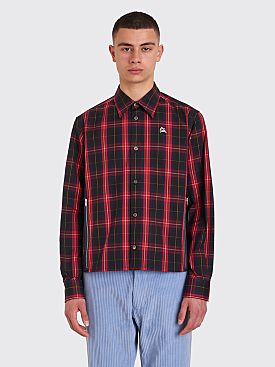 Undercover Printed Check Shirt Red / Blue