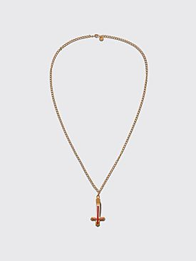 Undercover Cross Pendant Necklace Gold