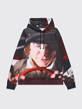 Undercover Clockwork Orange Alex Face Print Hooded Sweatshirt Black