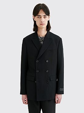 Undercover Cindy Sherman Double Breasted Wool Patch Blazer Black