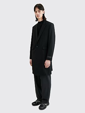 Undercover Cindy Sherman Portrait Wool Coat Black