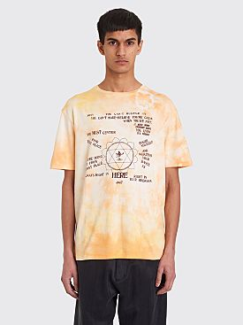 Wales Bonner Presence Print T-shirt Pale Orange Tie Dye