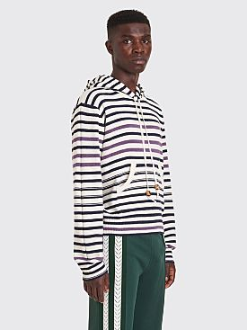 Wales Bonner Breton Hooded Wool Sweatshirt Stripe Ivory