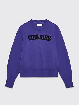 Wales Bonner Conjure Varsity Sweater Royal Purple