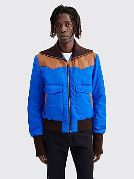 Wales Bonner Hybrid Trucker Jacket Nylon Lapis Blue
