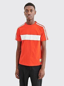 Wales Bonner George Panelled T-shirt Red / Ivory