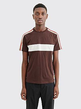 Wales Bonner George Panelled T-shirt Dark Brown / Ivory