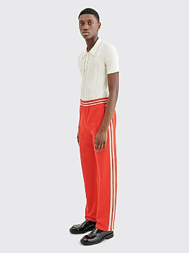 Wales Bonner Palms Crochet Track Pants Red