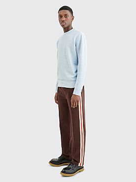 Wales Bonner Palms Crochet Track Pants Dark Brown