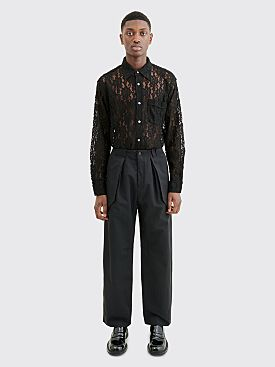 Wales Bonner Jose Wide Leg Cargo Pants Black
