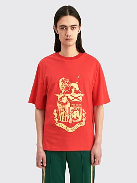 Wales Bonner Johnson Crest T-shirt Red