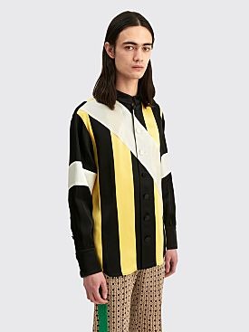 Wales Bonner Sunshine Panelled Shirt Black / Yellow