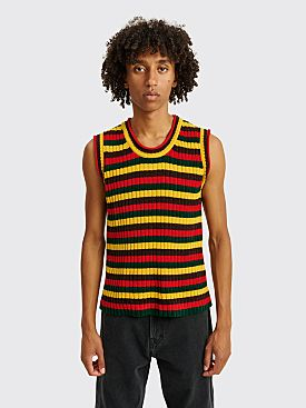Wales Bonner Brixton Chenille Vest Red / Yellow