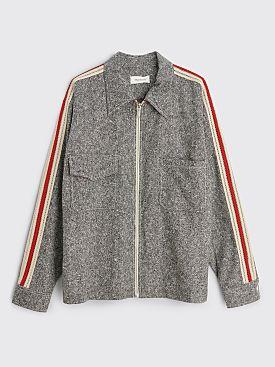 Wales Bonner Charlie Zip Shirt Jacket Ash Grey