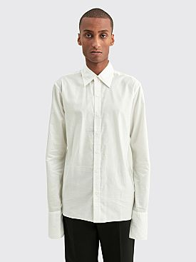 Winnie New York Bond Cuff Button Down Cotton Shirt Ivory