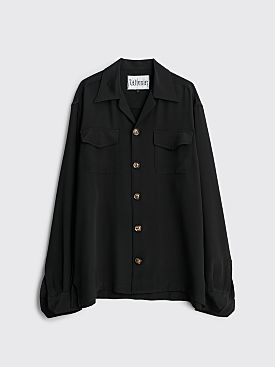 Winnie New York Camp Collar Silk Shirt Black