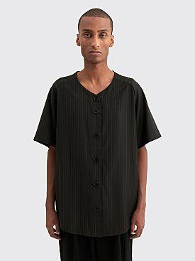 Winnie New York Wool Baseball Jersey Stripe Black