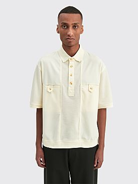 Winnie New York Double Panel Polo Egg Shell