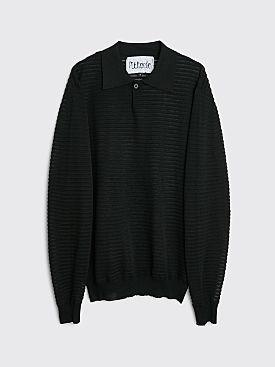Winnie New York Woven Silk Polo Black