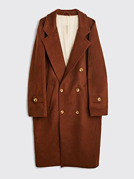 Winnie New York Double Breasted Wool Overcoat Chocolate