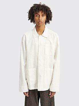 Winnie New York Painter Uniform Linen Shirt Ivory