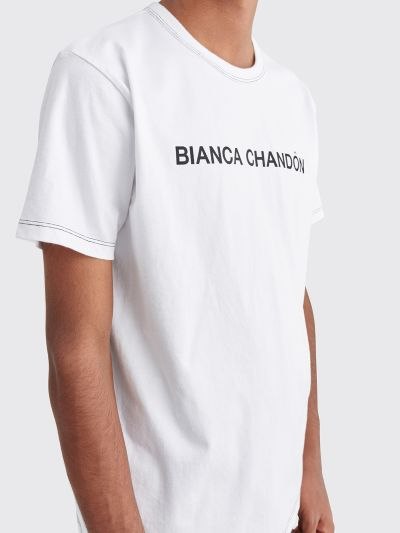 Bianca Chandôn Contrast Stitch Logotype T shirt White