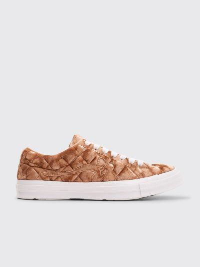 dc7ce348c75 Très Bien - Converse x Golf Le Fleur Quilted One Star OX Brown Sugar