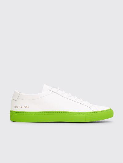 6060e868515fc1 Très Bien - Common Projects Achilles Low White / Green