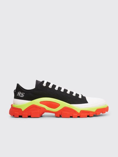 Details about Mens adidas Originals Mens Raf Simons Detroit Runner Trainers in Black Red UK