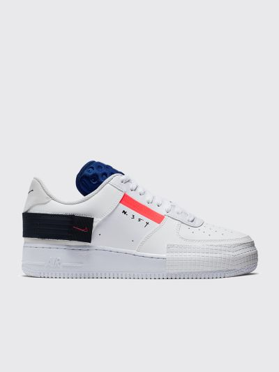 Nike Air Force 1 Type Summit White Red Orbit