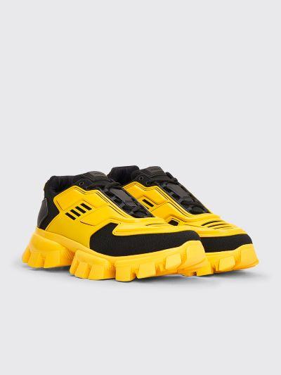 black and yellow prada sneakers off 58
