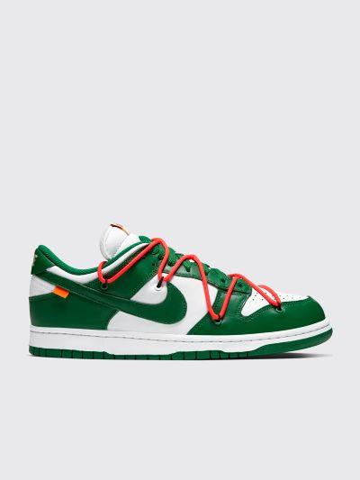 Nike x Off,White Dunk Low White / Pine Green