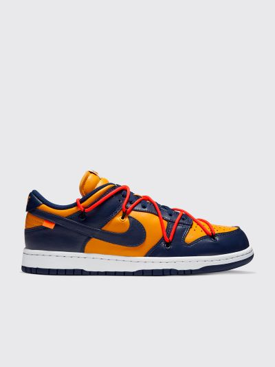 x Off White Dunk Low University Gold sneakers