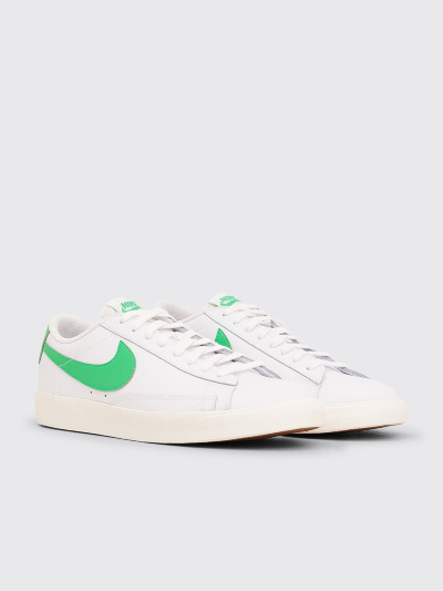 Nike Blazer Low Leather White Green Spark