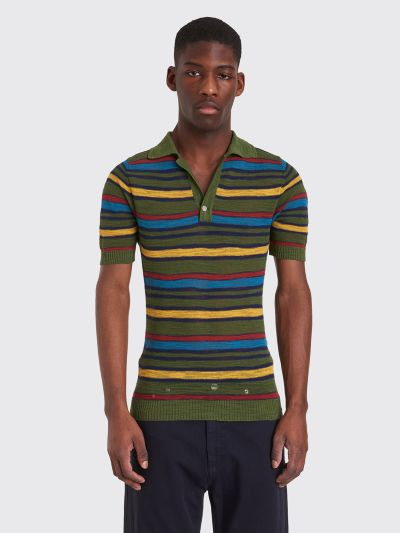 6b5a5aff22b Très Bien - Jacquemus Striped Polo T-shirt Multi Color