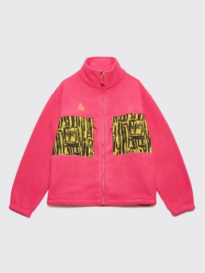 8f99d82616471 Très Bien - Nike ACG Fleece Jacket Rush Pink   Opti Yellow