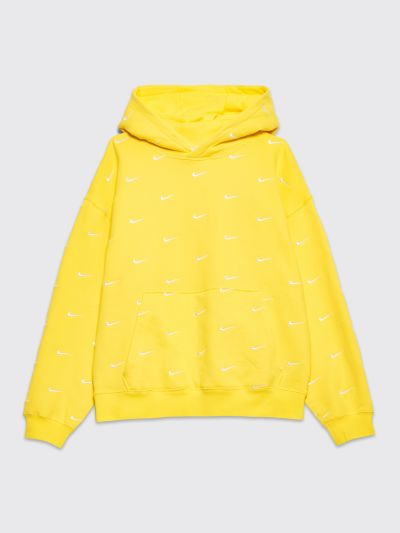 Nike NRG Swoosh Logo Hooded Sweatshirt Yellow