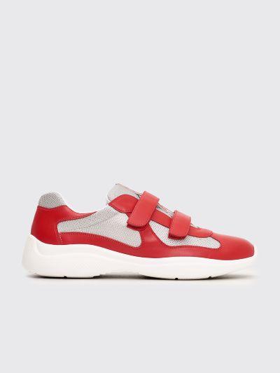 Très Bien - Prada Velcro Sneakers Red