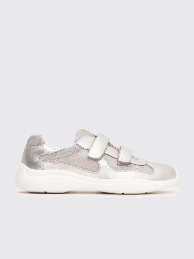 Très Bien - Prada Velcro Sneakers Silver
