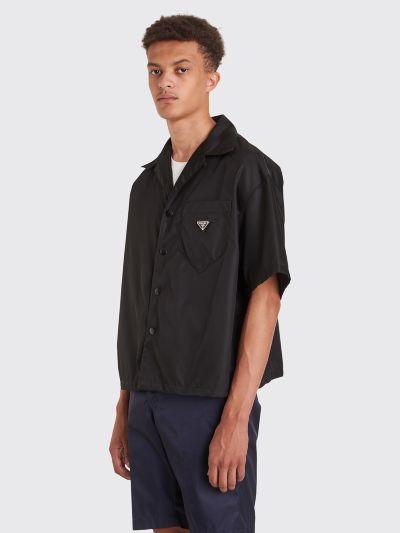 dde3cf721e Prada Gabardine Nylon Shirt Black