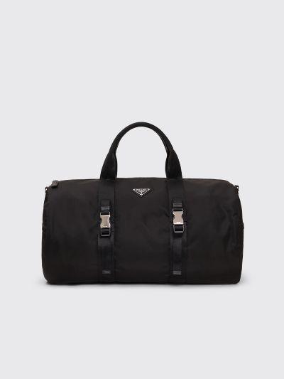 Prada Nylon Saffiano Leather Duffel