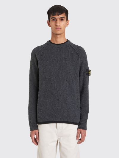 Tr 232 S Bien Stone Island Knitted Boucle Sweater Grey