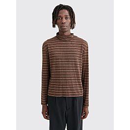 our-legacy-artist-trashed-turtleneck-stripe-brown by très-bien